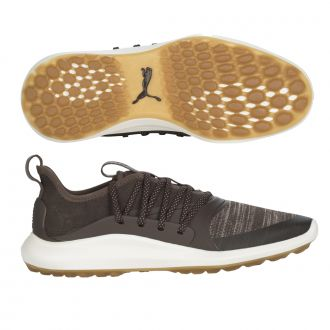 IGNITE NXT SOLELACE Golf Shoes - Burnt Olive / Puma Aged Silver / Puma Black