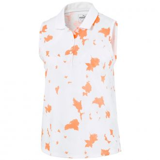 Women's Floral Sleeveless Golf Polo - Rosewater